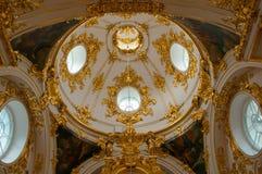 Interior da abóbada da igreja barroco do eremitério em St Peters Fotografia de Stock