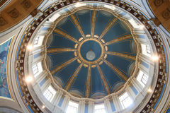 Interior da abóbada do Capitólio em St. Paul, manganês Imagens de Stock