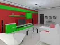 Interior da alto-tecnologia da sala de visitas Ilustração do Vetor