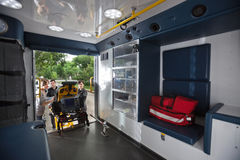 Interior da ambulância Foto de Stock Royalty Free