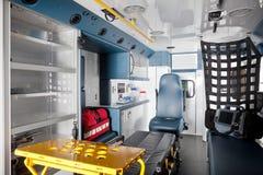 Interior da ambulância Fotos de Stock