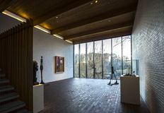 Interior da arte moderna do museu de Louisiana Dinamarca Copenhaga Imagem de Stock