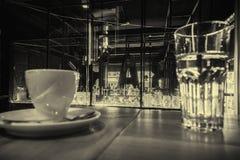 Interior da barra de caf? fotografia de stock royalty free