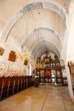 Interior da basílica de Arkadi Monastery na Creta, Grécia imagem de stock