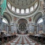 Interior da basílica de Esztergom, Hungria Fotografia de Stock Royalty Free