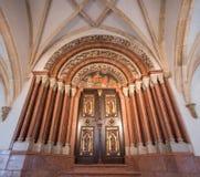 Interior da basílica de Pannonhalma, Pannonhalma, Hungria fotos de stock