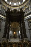 Interior da basílica de Peter de Saint, Roma. Fotos de Stock