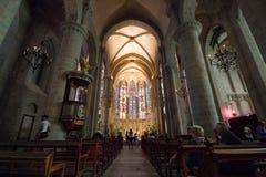 Interior da basílica de Saint Nazarius e Celsius na carcaça fotografia de stock