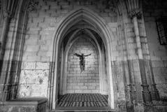Interior da basílica de St Servatius Imagens de Stock