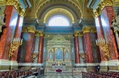 Interior da basílica de Stephen de Saint, Budapest, Hungria Foto de Stock