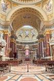 Interior da basílica do St Stephen da igreja católica romana Budapest Foto de Stock
