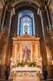Interior da basílica do St Stephen da igreja católica romana Budapest, Hungria Fotos de Stock