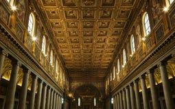 Interior da basílica papal de Saint Paul imagens de stock royalty free