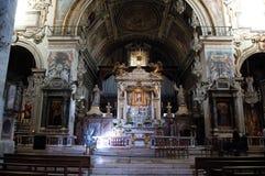 Interior da basílica Santa Maria, Roma, Itália fotos de stock
