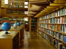 Interior da biblioteca Fotos de Stock