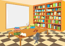 Interior da biblioteca ilustração royalty free