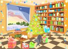 Interior da biblioteca Imagem de Stock