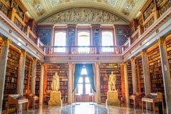 Interior da biblioteca de Pannonhalma em Hungria Fotos de Stock Royalty Free