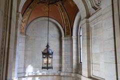 Interior da biblioteca pública na 5a avenida, Bryant Park, Manhattan Foto de Stock Royalty Free