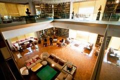 Interior da biblioteca privada da rainha anterior de Iran's em Tehran Imagens de Stock