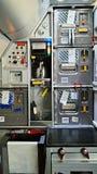 Interior da cabine do avião Imagens de Stock