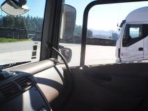 Interior da cabine do caminhão fotos de stock