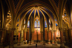 Interior da capela de Sainte-Chapelle do La Imagens de Stock