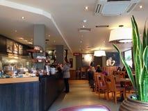 Interior da casa de café Imagens de Stock Royalty Free