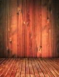 interior da casa de madeira do vintage, fundo do grunge foto de stock