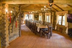 Interior da casa do caçador Foto de Stock