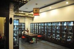 Interior da casa do estilo chinês fotografia de stock royalty free