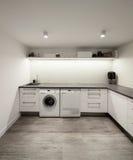 Interior da casa, lavanderia fotografia de stock royalty free