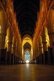 Interior da catedral Fotografia de Stock Royalty Free