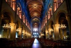 Interior da catedral Fotos de Stock Royalty Free