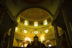 Interior da catedral de Alajuela, em Alajuela, Costa Rica Fotos de Stock Royalty Free