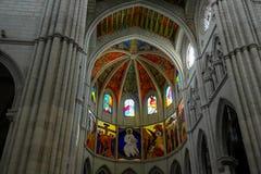 Interior da catedral de Avila Imagens de Stock