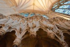 Interior da catedral de Canterbury fotografia de stock