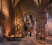 Interior da catedral de Freiburg Foto de Stock