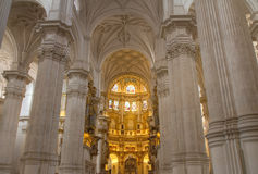 Interior da catedral de Granada em HDR Imagem de Stock