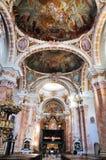 Interior da catedral de Innsbruck Fotos de Stock Royalty Free