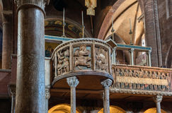 Interior da catedral de Modena Foto de Stock Royalty Free