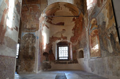 Interior da catedral de nossa senhora do sinal em Veliky Novgorod, Rússia , Veliky Novgorod, Rússia Foto de Stock