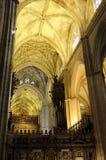 Interior da catedral de Sevilha, Spain Imagem de Stock