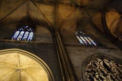 Interior da catedral de Sevilha, Spain Fotos de Stock