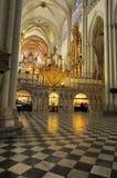 Interior da catedral de Toledo foto de stock