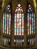 Interior da catedral de Vitus de Saint, Praga Fotografia de Stock