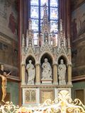 Interior da catedral de Vitus de Saint, Praga Imagem de Stock