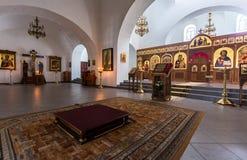 Interior da catedral do salvador no St George Yuriev Ort Imagens de Stock Royalty Free