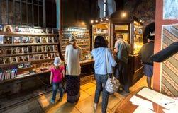 Interior da catedral do salvador no St George Yuriev Ort Imagem de Stock Royalty Free