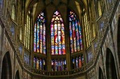 Interior da catedral do St Vitus Foto de Stock